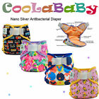 Coolababy One size Nano sliver antibacterial Baby Pocket Cloth Diaper Nappy