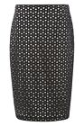 Roman Originals - Geometric Pencil Skirt - Black