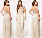 Sexy Women Lace Backless Formal Prom Evening Party Bridesmaid Wedding Maxi Dress