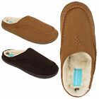 MENS LUXURY FUR LINED ULTRA LIGHT SLIPPERS MOCCASINS HOUSE BEDROOM WINTER SHOES