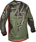 Fly Racing 2015 Lite Hydrogen Vented MX ATV BMX Jersey GRN/Orange S-2XL
