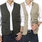 New Men's Casual Cotton Multi-pocket Vest Fishing/Photography/Director Waistcoat