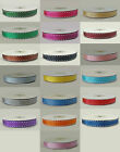 various colours Grosgrain ribbon with saddle stitch 10mm x 10 metre [approx]