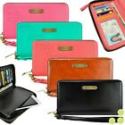 Wallet Women's Fashion Leather Smart Phone Clutch Purse Wristlet Cover Case