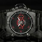 INFANTRY MENS DIGITAL QUARTZ WRIST WATCH DUAL CORE ARMY PILOTS STAINLESS STEEL