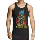 Legends Never Die Vegeta Blue God Ball Herren Tank Top Son Saiyajin Goku Dragon