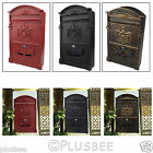 Large Heavy Duty Aluminium Lockable Secure Mail Postbox Letter Mailbox Post Box