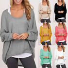 Women Plus Size Long Sleeve Pullover Sweater Casual Baggy Loose Jumper Top Shirt