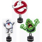 Ghostbusters Shaped Neon Table Light Slimer / Marshmallow Man / Logo New In Box