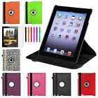 Rotating Color Magnetic Case Cover Stand for iPad 4th 3rd 2nd Gen 4/3/2+Film/Pen
