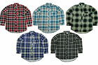 Mens Flannel Long Sleeve Check Work Shirt | Brushed Cotton | Lumberjack | E07