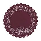 "BURGUNDY WINE Colored PAPER LACE DOILIES | 4"" 6"" 8"" 10"" 12"" 