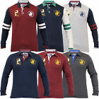 Mens Polo T Shirt Santa Monica Top Jersey Quilted Pullover Long Sleeved Designer