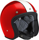 Biltwell Bonanza Racer Gloss Red/White Open Face Vintage Helmet Adult All Sizes
