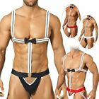 Men Sexy Borat Bodysuit Mankini Thong Underwear Waiter Costume Lingerie Swimwear