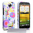White Silicone TPU Gel Case For The HTC One X Jellyfish Pattern Phone Cover UK