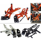 Adjustable Rearsets Rear Set Foot Rest Pegs For 2014-2016 KTM RC 125 390 RC390