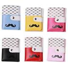 Women Ladies Moustache Beard Button Leather Handbag Clutch Purse Wallet Bag - CB