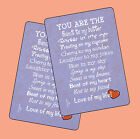 """You Are The Peanut To My Butter"" Poem - 2 Verse Cards - SKU# 887"