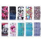 For Multi Phone Blossom Shabby Wallet Synthetic PU Leather Stand Card Case Cover