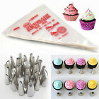 24x Style Nozzle 100pcs Disposable Icing Piping Bag Cake Decorating Mold Tool #E