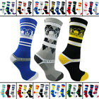 3 Pairs Strideline Athletic Men's Sport Crew Socks Strapped Fit One Size Designs