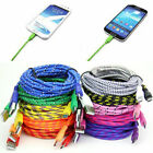 1/2/3M Braided Fabric Micro USB Data Charger Cable Cord For Android Cell Phone
