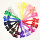 """Colorful 4/6/9/12/18pcs baby girl 3.5""""hairbow clip 6"""" knot braid 2796-1-18-P"""