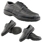Mens Gents New Black Extra Wide Fitting EEE Lightweight Casual Shoes 6.5 - 11