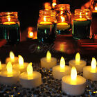 6/24PCS Waterproof LED Floating Flicker Tea Light Flameless Candle Wedding Party