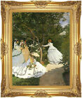 Women in the Garden Claude Monet Vintage Painting Reproduction Framed Art Print