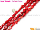 "Jewelry Making Freeform Baroque Gemstone Red Coral Beads Strand 15"" sd2153-V"