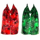 Women Lady Christmas Festive Neck Shawl Stole Wrap Scarf Ladies Scarves New