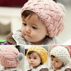 Fashion Winter Warm Cute Baby Kids Girls Toddler Knitted Crochet Beanie Hat Cap
