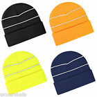 BEECHFIELD ENHANCED - VIZ ACRYLIC BEANIE - 4 COLOURS - HI VIS STRIPES BB42