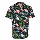 Robert J. Clancey Black Flamingo Rockabilly Authentic Hawaiian Shirt S-4XL