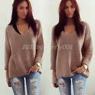Fashion Women Long Sleeve Knitwear Jumper Cardigan Long Casual Coat Jacket New