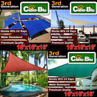 3rd Generation 16'x16'x16' triangle outdoor sun sail shade canopy cover-choose