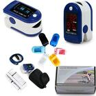Contec LCD/OLED Fingertip Pulse Rate Oximeter Spo2 Oxygen Monitor+Cloth Case A++