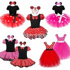 Baby Girl Kid Minnie Mouse Costume Fancy Outfit Ballet Tutu Dress +Ear Halloween