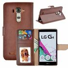 Luxury PU Leather Flip Credit Card Holder Wallet Stand Case Cover For LG G4