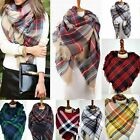 Nice Women/Lady Blanket Oversized Tartan Scarf Wrap Shawl Plaid Cozy Pashmina