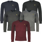 Lyle & Scott Vintage LS V Neck Lambswool Mens Classic Jumpers (KN196CL W/H)