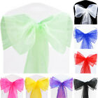1 10 50 100 Mint Green Organza Chair Sashes Bows WIDER FULLER Wedding Party
