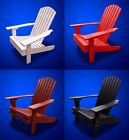 New Deluxe Eco-Friendly Deluxe Patio Fanback Recycled Plastic Adirondack Chair