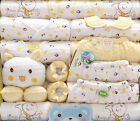 18pcs/set Yellow Cotton  newborn baby winter clothes одежда для новорожденных