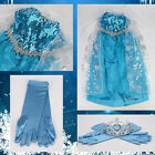 UK Best Quality & Price Fancy Princess Queen Elsa Girls Dresses Costume Party