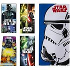 STAR WARS TOWELS 100% COTTON BEACH BATH POOL KIDS BATHROOM HOLIDAY PONCHO