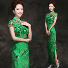 L427 Green/Blue Formal Evening Wedding Dress Long Prom Party Chinese Dress Gown
