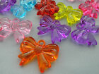 23x30mm 5/10/../50pcs CLEAR RANDOM ASSORTED ACRYLIC PLASTIC BOWTIE CHARMS T02590